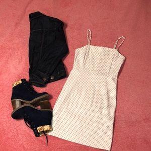 White with Black Polkadots Dress